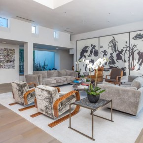 A Huge Kara Walker Triptych is on Display in Ari Emanuel's L.A. Home, Works by Mark Bradford and Sam Gilliam Hang Nearby
