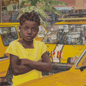 New Works From Njideka Akunyili Crosby's Ongoing Series 'The Beautyful Ones' on at View at Victoria Miro Venice