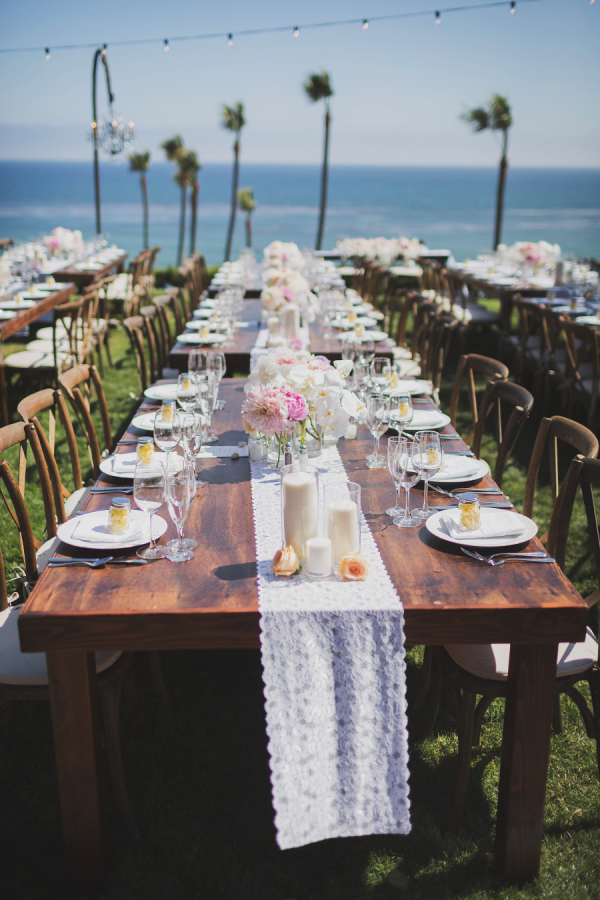 long styled wedding table