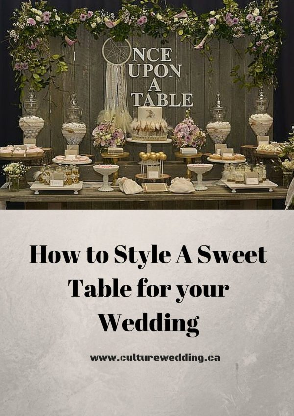 How to Style A Sweet Table for your Wedding