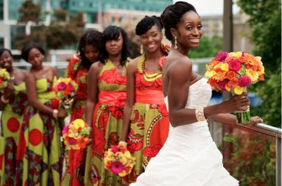 5 African traditional bridesmaids dresses that nailed