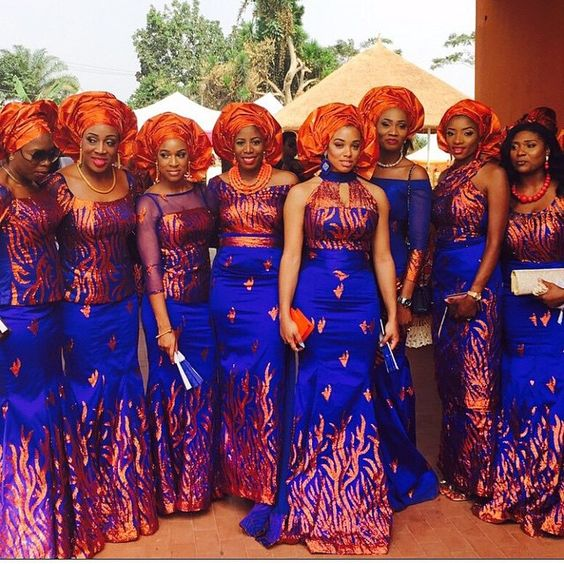 Nigerian Traditional Wedding Dresses: 5 African Traditional Bridesmaids Dresses That Nailed It