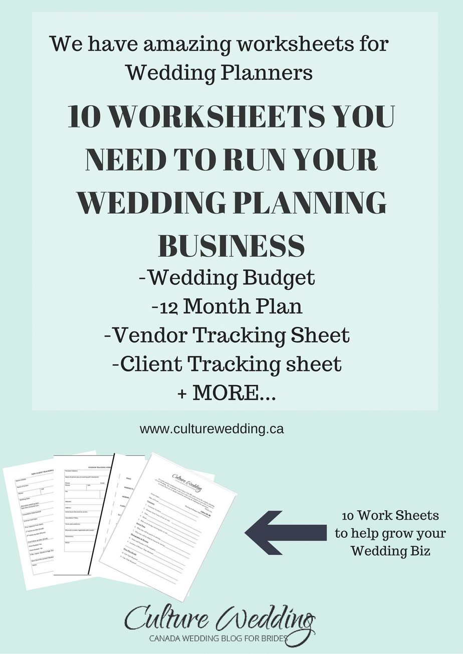 Wedding Templates For Wedding Planners