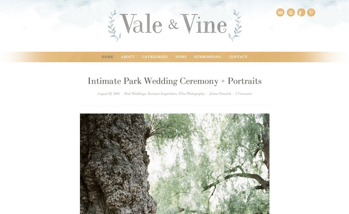 Vale and Vine Canadian Wedding Blog