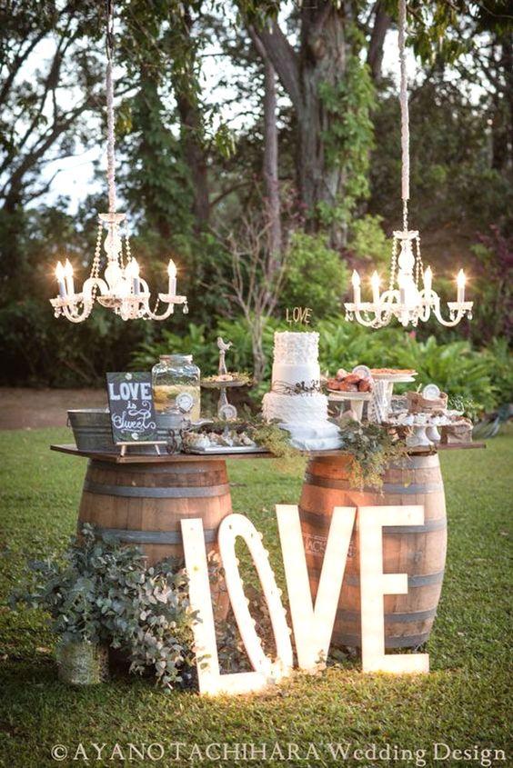 Wedding cake outdoor decor