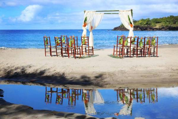 Ti-Kaye Beach wedding setup