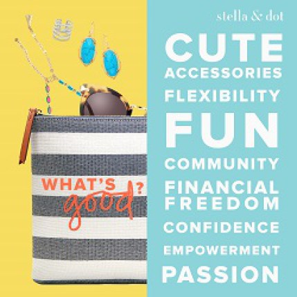 Become a stella & dot stylist and make money fast. How to make extra money working from. Make more money as a stay at home mom. How to make money fast working from home. How to make money from home. Online job ideas for moms. Make money from home tips. Side hustle. Working from home ideas #ladiesmakemoney #makemoneyfromhome