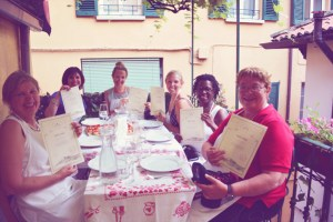 group dinner in italy