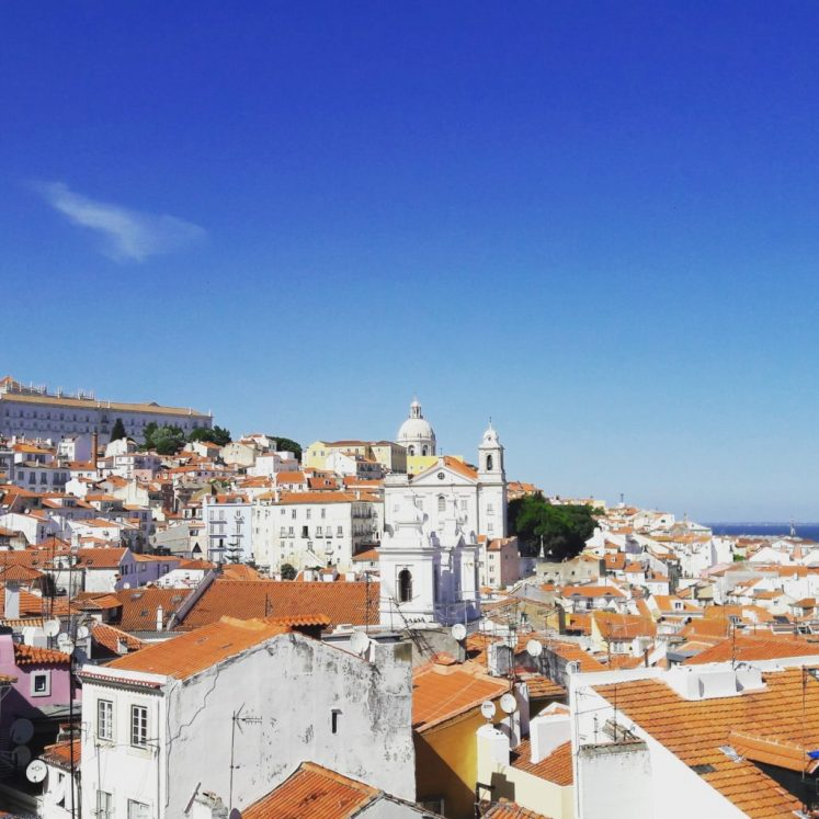 Santa Luzia (view over Alfama) in Lisbon