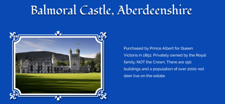 balmoral castle royal residences