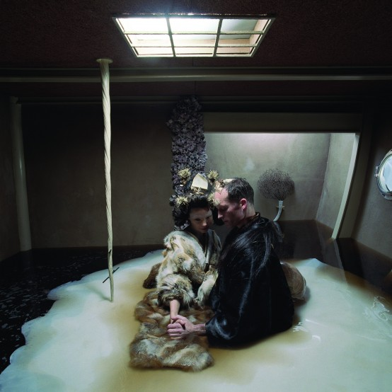 Björk et Matthew Barney sur Drawing Restraint 9
