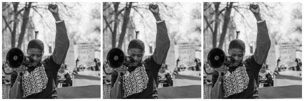 Black Lives Matter marches against gun violence