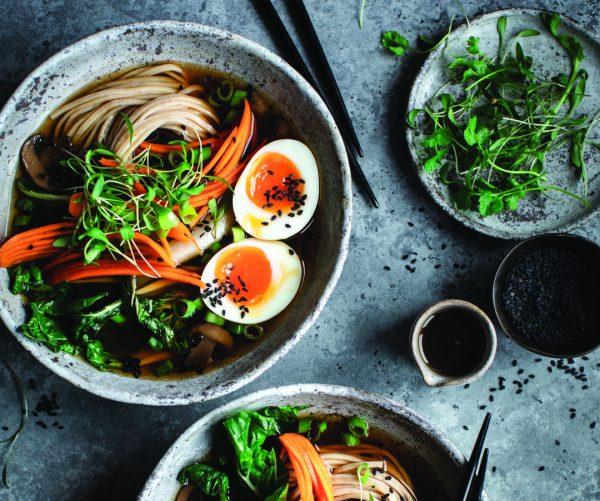 Asian Noodle Soup. Photo Credit: Beata Lubas
