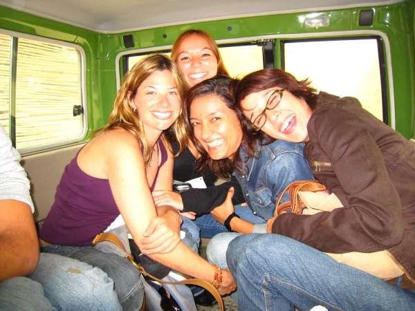 Rebecca Soffer with friends in Venezuela