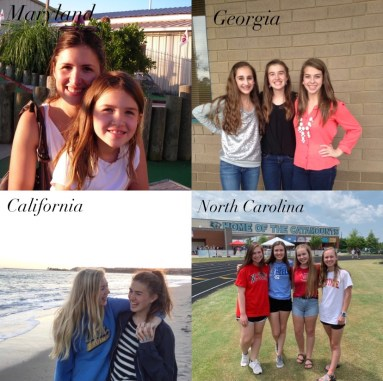 Madi Solerin each state she has lived in.