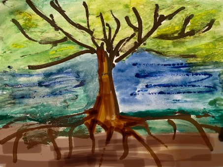 Branches and roots symbolize the journey of a TCK.