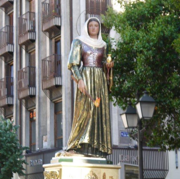 Santa Maria de la Cabeza in p[rocessie, foto Peter Lasschuit