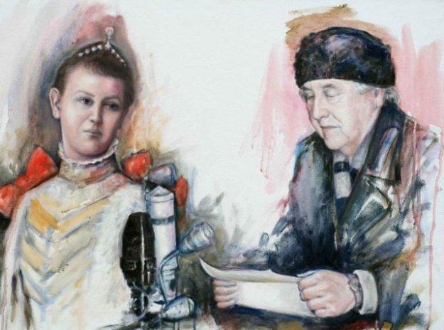 Godsdienstvrijheid en Geloof van Oranje, Wil;helmina, een portret bvan Gustave Nouel m hl