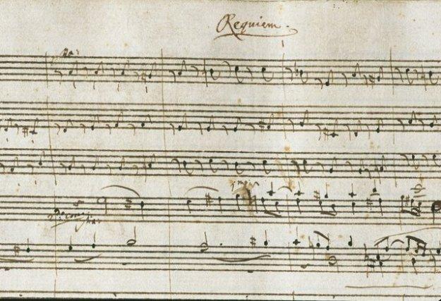 het originele door Mozart gecompineetde Requiem