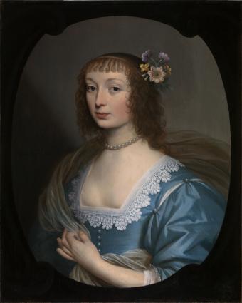 Portret van een onbekende dame uit de omgeving van Amalia van Solms 1636 74,7 x 59,6