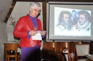 """Godsdienstvrijheid stond centraal tijdens mijn lezing annex diapresentatie voor de """"Orde van den Prince'' op 22 december 2016 in de Waag van Delft."""