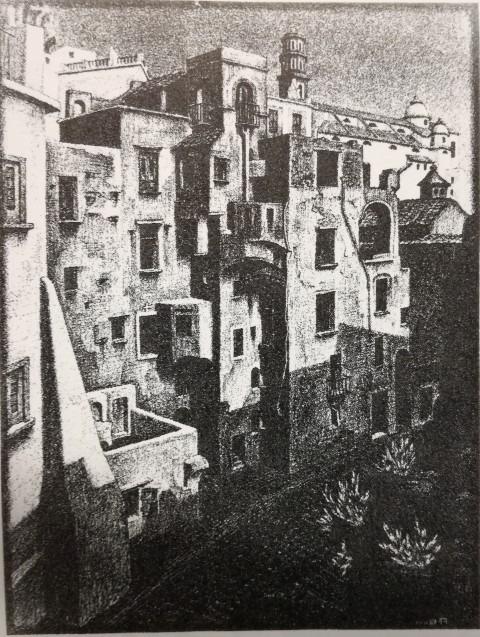 Escher: bouwvallige huisjes in Atrani