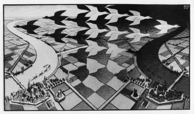 Escher, dag en nacht