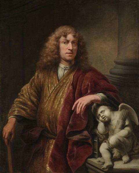 Ferdinand Bol, zelfportret met Cupido, ca 1669, doek 128 x 104 cm, Amsterdam, Rijksmuseum