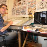 Haarlemse striptekenaar Gerben Valkema: 'strips + kunst gaan niet samen'