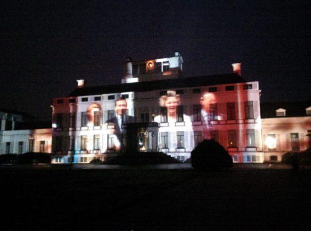Lichtshow op Paleis Soestdijk