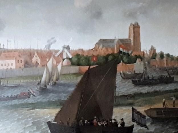 de Grote Kerk in het  Dordrechts Museum