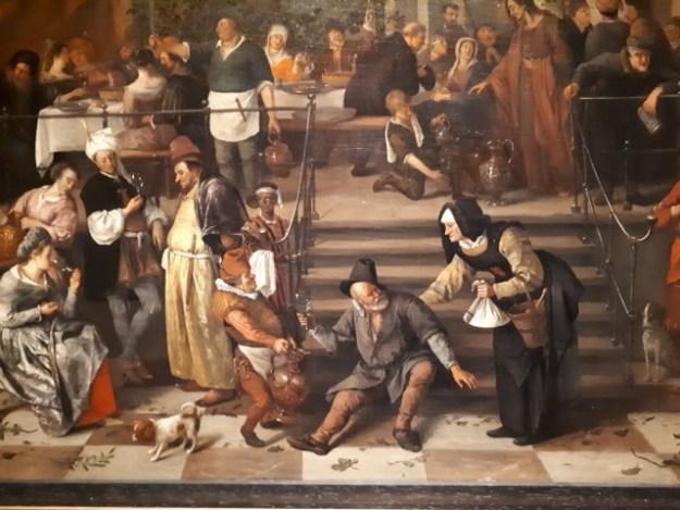 Historieschilder Jan Steenm fragment uit ''De bruiloft te Kana''