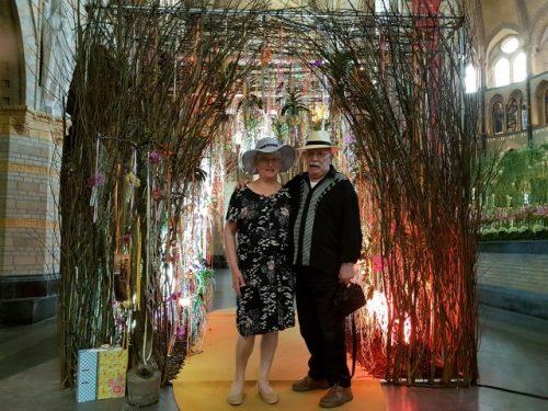 Haarlem bloeit, van 19-22 april genoten Peter en ik van ''de Nieuwe Bavo bloeit'', kathedraal, bloemencorso, Frans Hals Museum en Glenn Campbell