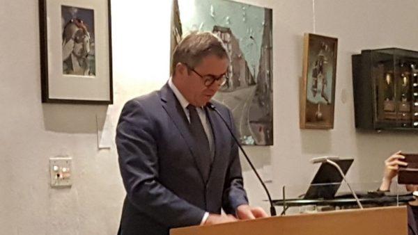Burgemeester Jos Wienen sprak boeiend over kloosterstad Haarlem tijdens de presentatie van Stadsklooster Haarlem op 28 oktober 2018 in de Janskerk van Haarlem