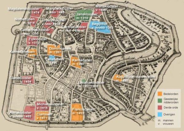 Kloosterstad Haarlem telde tot 1581 twintig kloosters