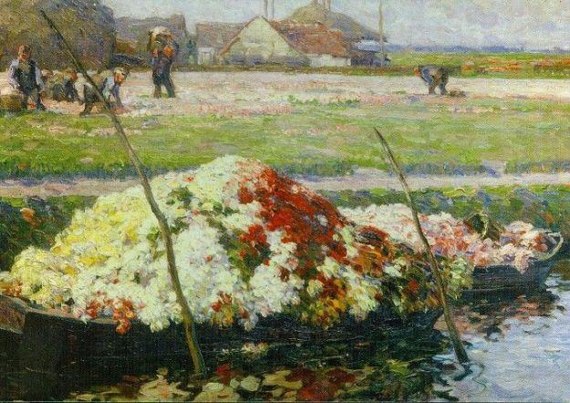 Museum de Zwarte Tulp, Lisse,einde van het tulpenseizoen van August Lüdere-Cleve
