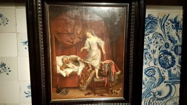 Bredius Museum, Afbeelding 2 : Jan Steen: ca 1671, het pijpje wijst op pijpje uitkloppen