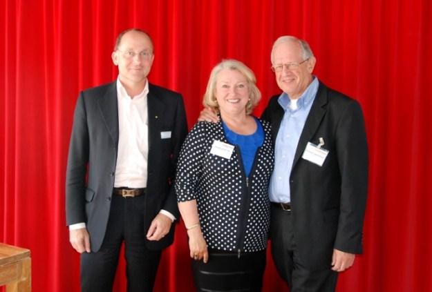 Bestuur van Hollandia Netwerk, van links naar rechts: penningmeester Jan-Pieter Goossens, secretaris Marjolijn van der Jagt, voorzitter Boudewijn Leeuwenburgh