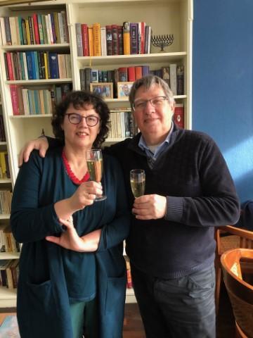 Burgemeester Gregor Rensen samen met zijn vrouw Margit van der Steen