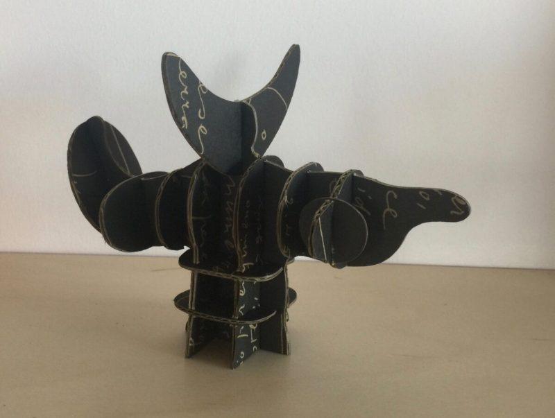 Papieren sculptuurtje Oiseau Soraire