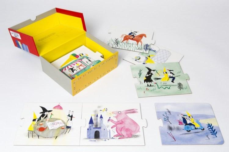 Samen verhalen creëren. 3 producten van M&O. Story Box. Fairy Tailes.