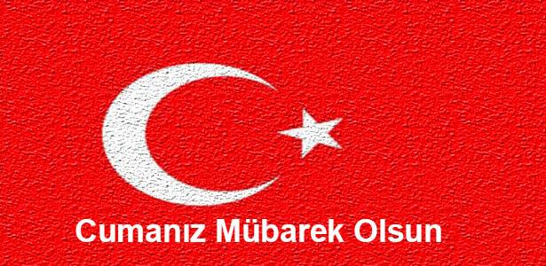 bayraklı cuma mesajı resimli