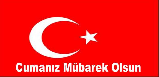 türk bayraklı cuma mesaj resimli
