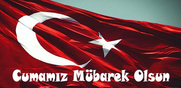 türk bayraklı cuma mesajları resimli yeni