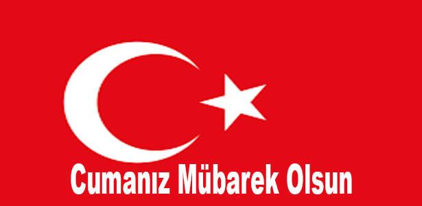 türk bayraklı cuma mesajlar