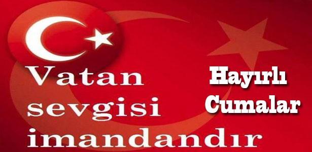 cuma mesaji türk bayraklı