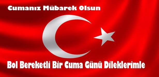 türk bayraklı cuma mesajı resimli