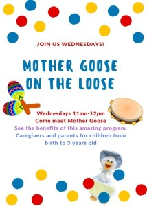 Mother Goose on the Loose! @ Cumberland County Public Library