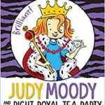 """Jolly smashing! Could the Moodys really have royal blood? Judy brings her new look to a comical episode about the ups and downs of exploring a family tree. Judy Moody is in a royal purple-mountain-majesties mood. Make that Majesty with a capital M! With Grandma Lou's help, Judy has dug up proof that some old-timey Moodys (aka the brave Mudeyes) lived in merry olde England. In fact, if her grandpa's notes are right, Judy might even be related to — royal fanfare, please — the Queen herself! Should Judy start packing her purple robe for a sleepover at Buckingham Palace? But then Judy's family tree gets a few more shakes — thanks to her nemesis, Jessica """"Fink"""" Finch — and some more surprises come tumbling out. Crikey! These new gems are not nearly as shiny or sparkly as the crown jewels. Now Judy has some right royal family secrets she'd like to keep hidden away in a dungeon somewhere — and especially away from Jessica, the princess in pink herself!"""