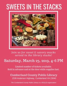 Sweets in the Stacks @ Cumberland County Public Library